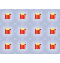 pattern with presents and snowflakes vector image