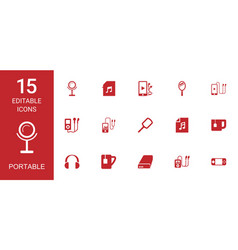 portable icons vector image