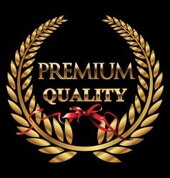 Premium quality golden laurel wreath vector