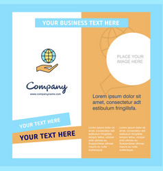 Safe world company brochure template busienss vector