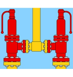 Safety overload relief valves vector image