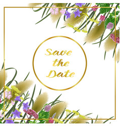 Save the date card with seven herbs vector