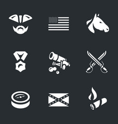 set civil war usa icons vector image