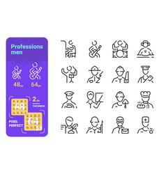 set men professions vector image