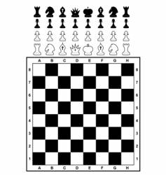 Set of chess and chessboard vector