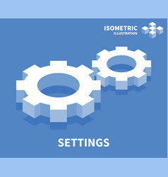 Settings icon isometric template for web design vector