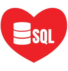 Sql database icon logo design ui or ux app vector
