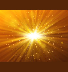star burst with sparkles light effect vector image