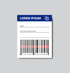 Template sticker with copy space and bar code for vector