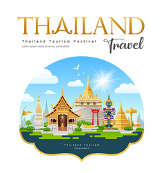 thailand travel beautiful building landmark vector image