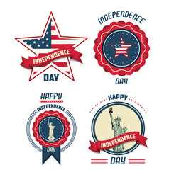 usa independence day cards vector image