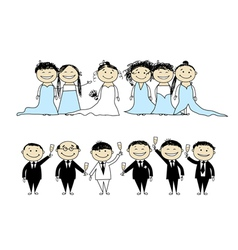 wedding party vector image vector image