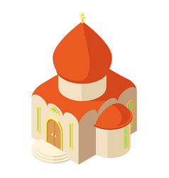 Western church icon isometric style vector