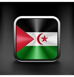 Western Sahara icon flag national travel icon vector image