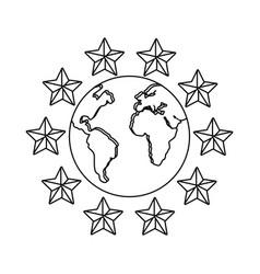 World around stars vector