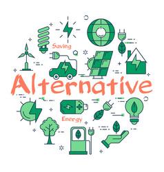 green alternative concept vector image
