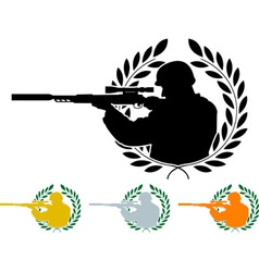 stencil of sniper vector image