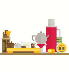 tea ceremony flat vector image vector image