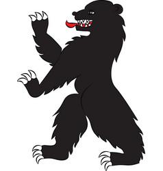 bear black rampant vector image