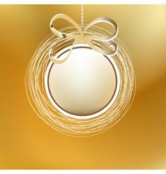 Merry christmas gold card eps8 vector