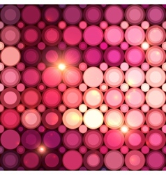 Pink disco circles abstract background vector image vector image