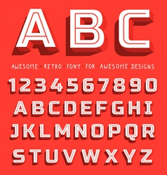 Retro 3D Font with shadow vector image vector image