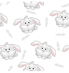 seamless pattern rabbit vector image