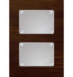 wood metal plate vector image vector image