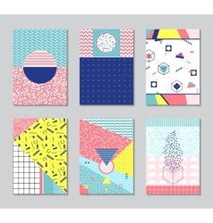 Abstract memphis style cards vector image vector image