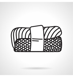 Black line icon for sushi vector image