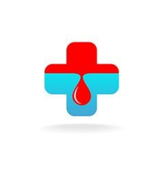 Blood donation symbol vector image vector image