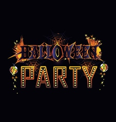 Halloween party invitation vector image vector image