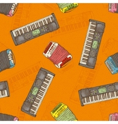 Seamless Pattern Keyboard instruments vector image vector image