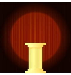 Yellow Marble Greek Column vector image