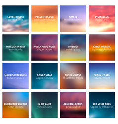 blurred nature abstract backgrounds vector image vector image