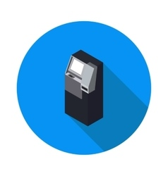 flat icon ATM vector image