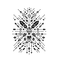Hand drawn tribal art vector image vector image