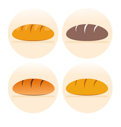 set of french bread icons vector image