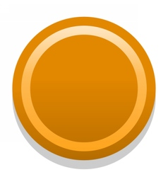 3D orange blank icon in flat style vector