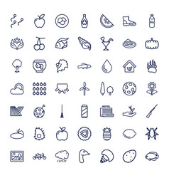 49 nature icons vector