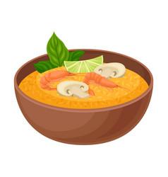 Appetizing thai food pumpkin porridge with vector