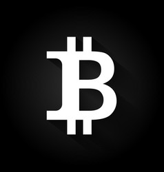 Bitcoin logo black and white vector