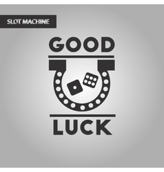 Black and white style good luck logo vector