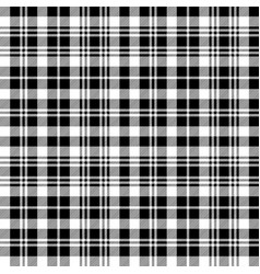 black watch tartan fabric texture seamless pattern vector image