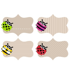 Blank paper tags vector image