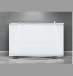 Blank roll up banner horizontal stand vector