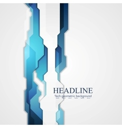 Blue hi-tech background vector