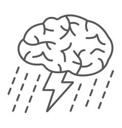 brainstorm thin line icon development vector image