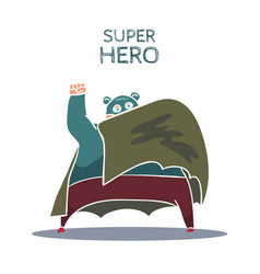 Cartoon hand drawn super hero character with cloak vector
