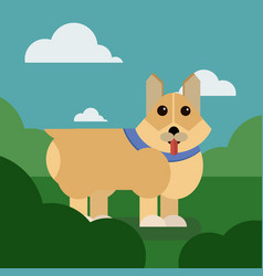 cartoon puppy of cute dog vector image
